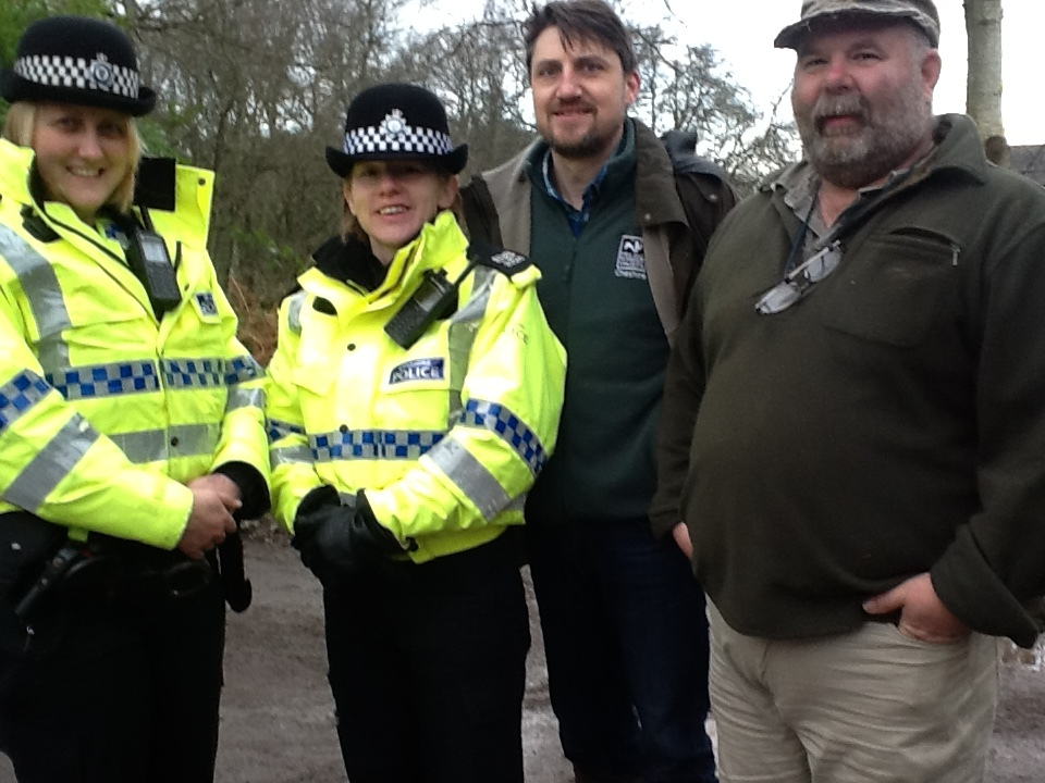 Sgt Angie Coppock, PC Lesley Long, Richard Gardner of Cheshire Wildlife Trust and water vole expert Derek Gow (53597717)