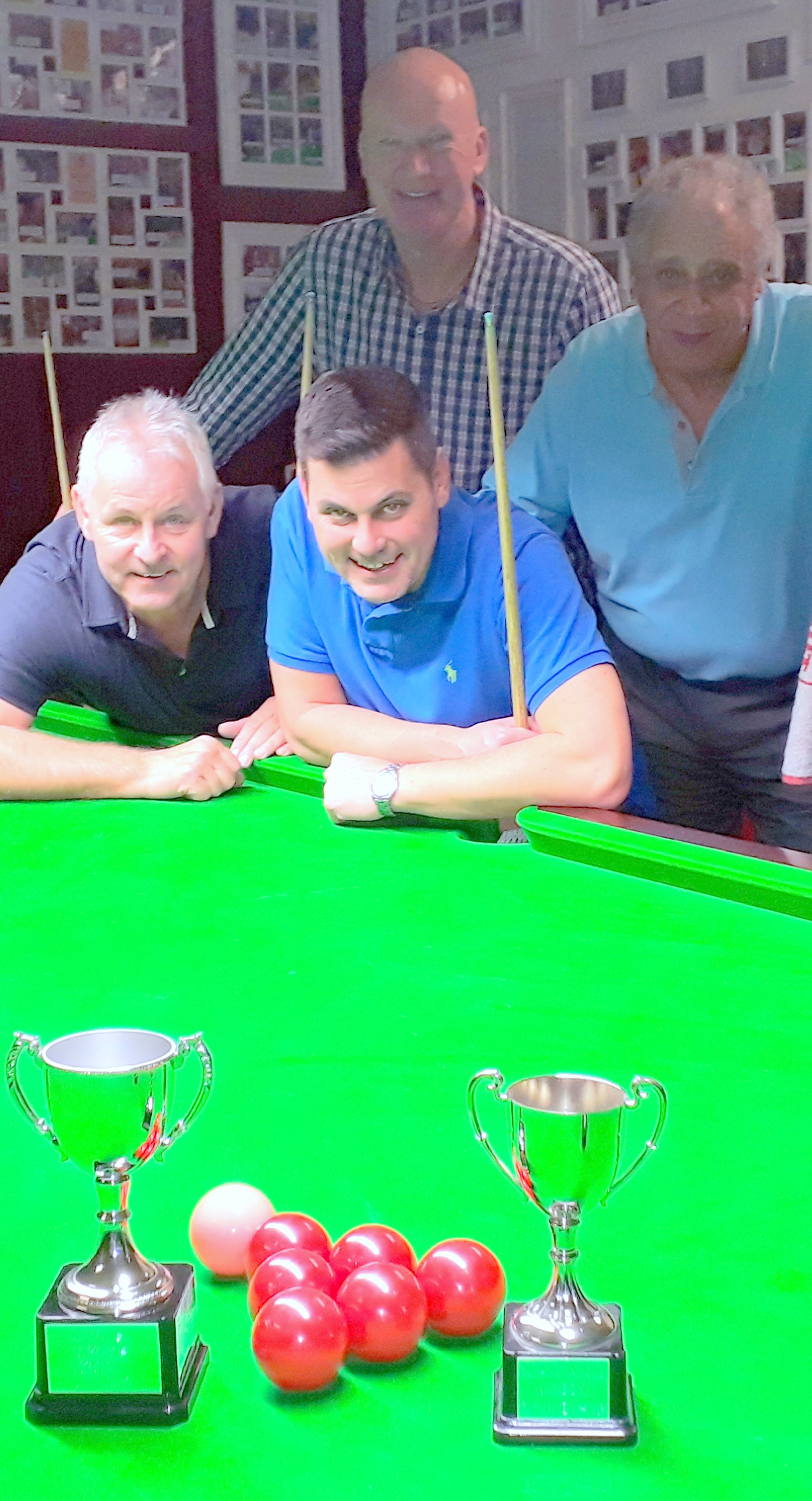 Finalists in the Knutsford and District Amateur Snooker League Six Reds Challenge