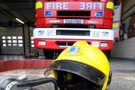 Firefighters rescue two men trapped in lift