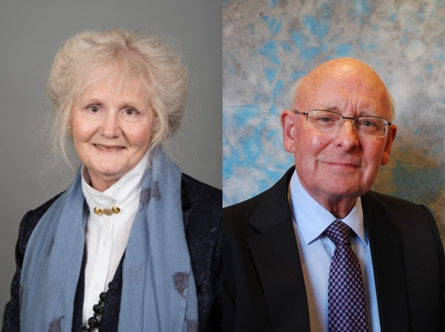 From left: Cllr Dorothy Flude, Labour, and Cllr Barry Moran, Conservative